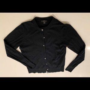J. Crew black cardigan size medium button front